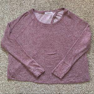 Project Social T Open Back Long Sleeve Plush Top